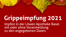Grippe-Impfaktion in der Löwen Apotheke Basel
